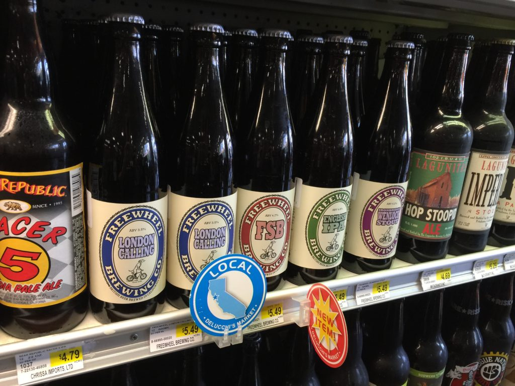 Now Selling Freewheel Brewery Beer at Delucchi's Grocery Store
