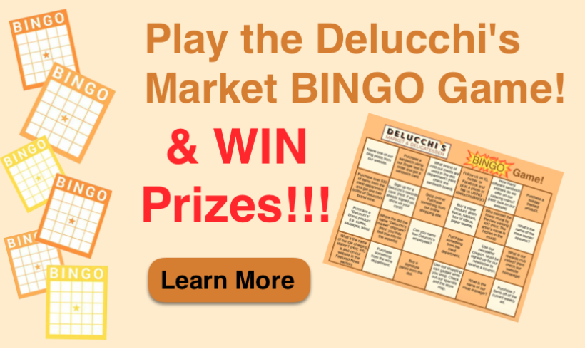 Play the Delucchi's Market BINGO Game!