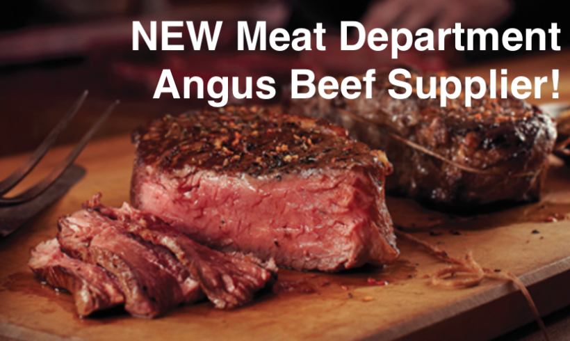NEW Meat Department Angus Beef Supplier!