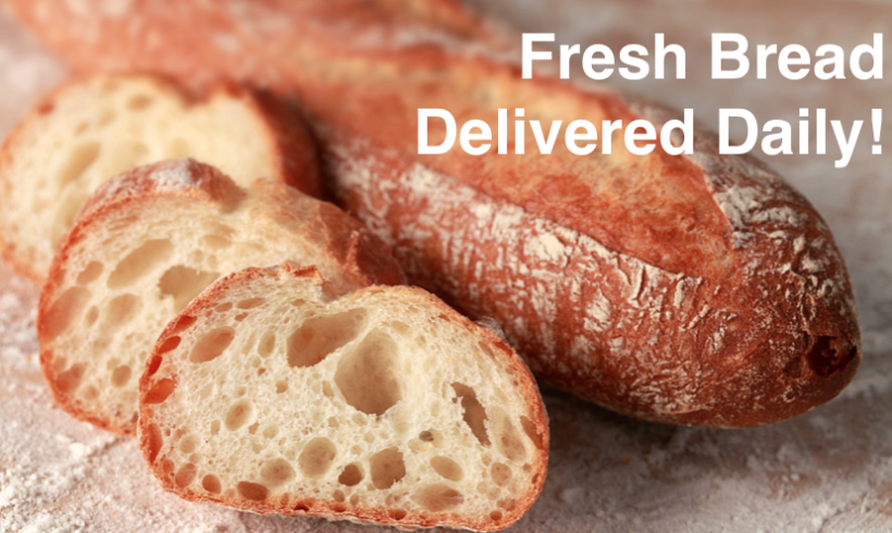 Fresh Bread Delivered Daily!