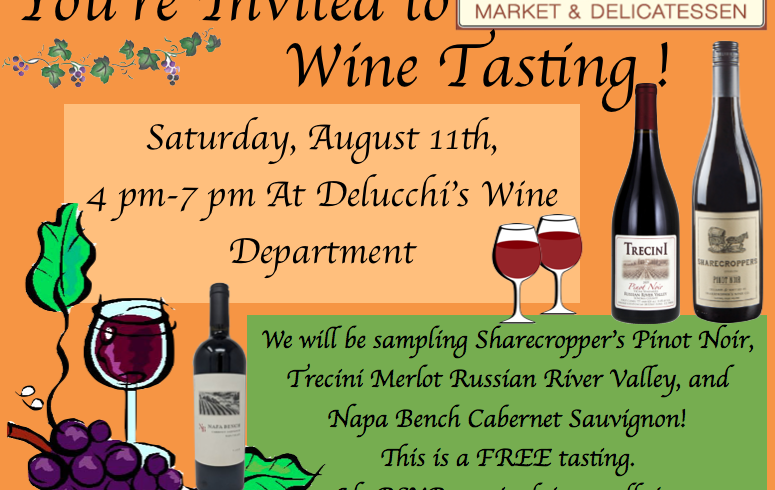 Come join us for a FREE wine tasting event!