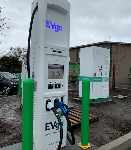 Upgraded EVgo Car Charging Stations